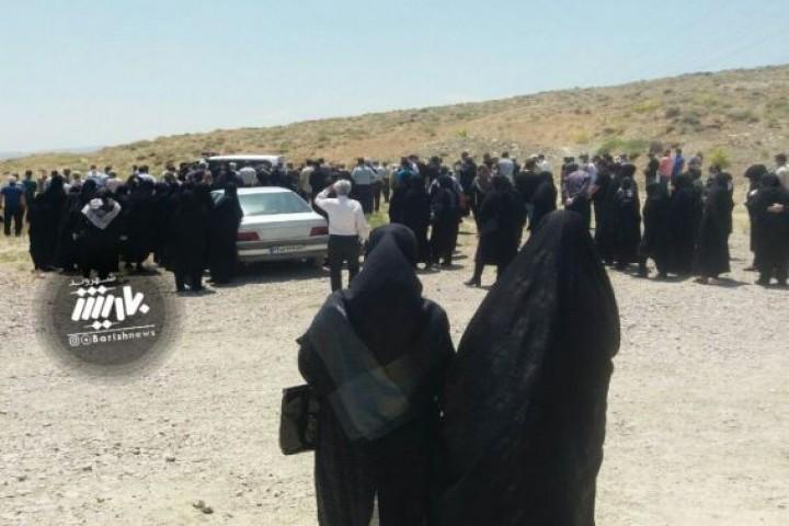تشیع جنازه در یکی از روستاهای ارومیه