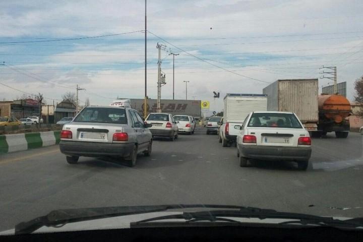 ترافیک دربریدگی سلماس