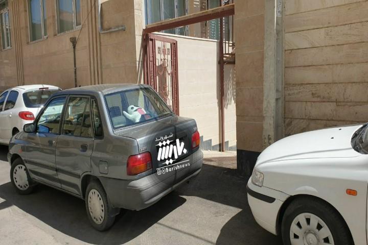 سد معبر در مقابل پارکینگ / به حقوق شهروندی احترام بگذاریم