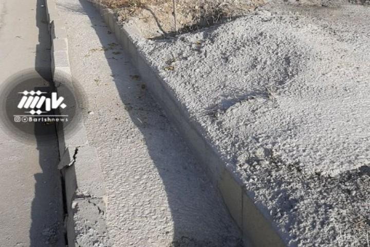 تخلیه اضافه بتن توسط شهروندان در خیابان آبشناسان