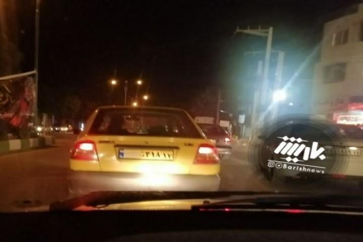 مخفی کردن پلاک تاکسی توسط راننده تاکسی