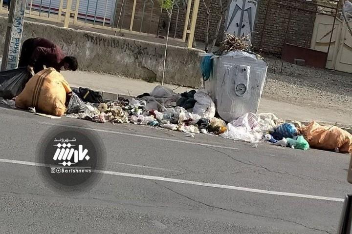 وضعیت کنونی و انباشت پسماند ها در خیابان دیگاله