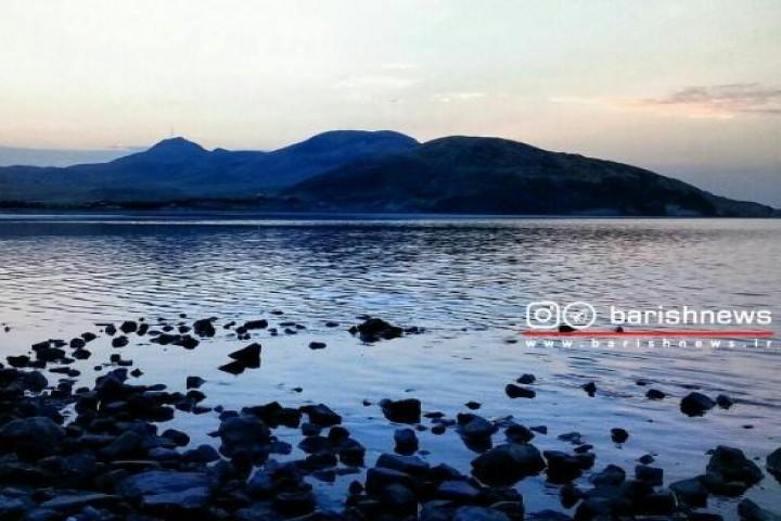 غروب زیبای دریاچه ارومیه