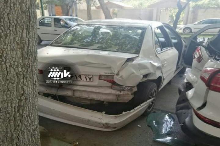 حادثه شدید رانندگی در خیابان دانشکده