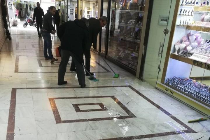 ضدعفونی مراکز خرید توسط کسبه