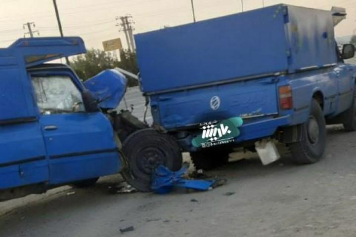 تصادف در جاده سرو با یک فوتی