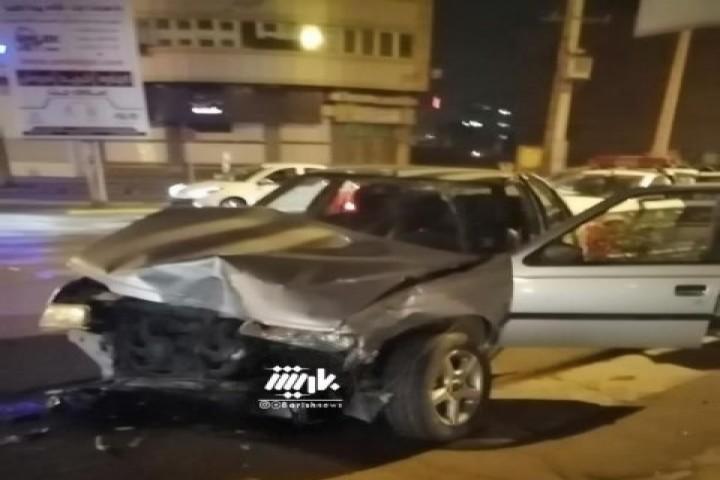 تصادف دیشب در چهارراه حسنی
