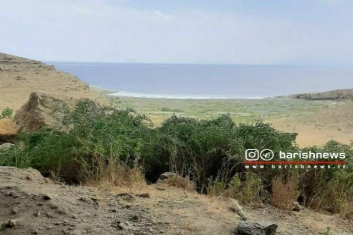 نمای زیبا از دریاچه ارومیه