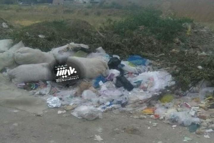 وضعیت پسماند ها در اول جاده مهاباد
