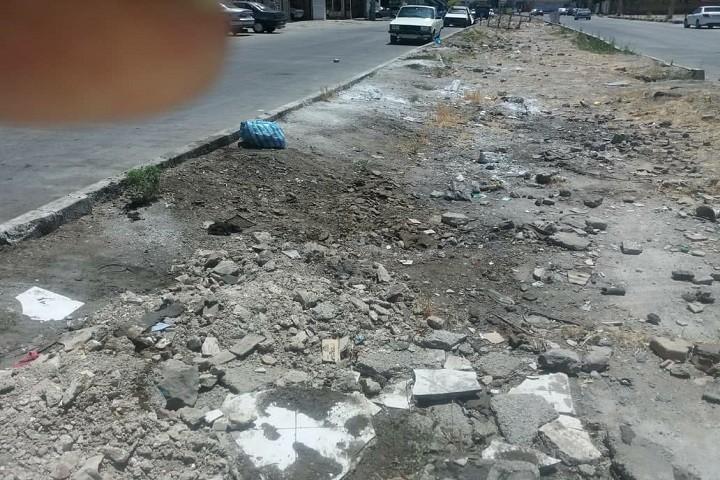 وضعیت نابسامان خیابان حکیم نظامی / اسماعیل زاده  که نیازمند رسیدگی می باشد