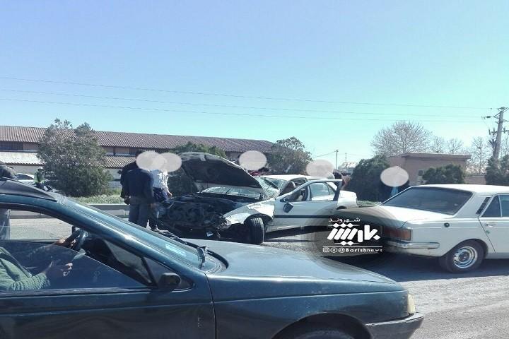 تصادف امروز در جاده سرو