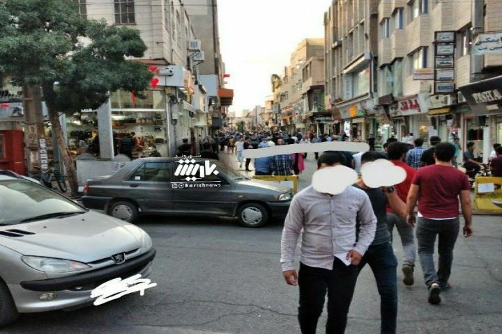 شلوغی یکی از خیابان های ارومیه در این روزهایی کرونایی
