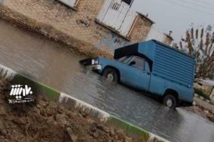 وضعت جاده کمربندی خاتم الانبیا بعد از بارش باران