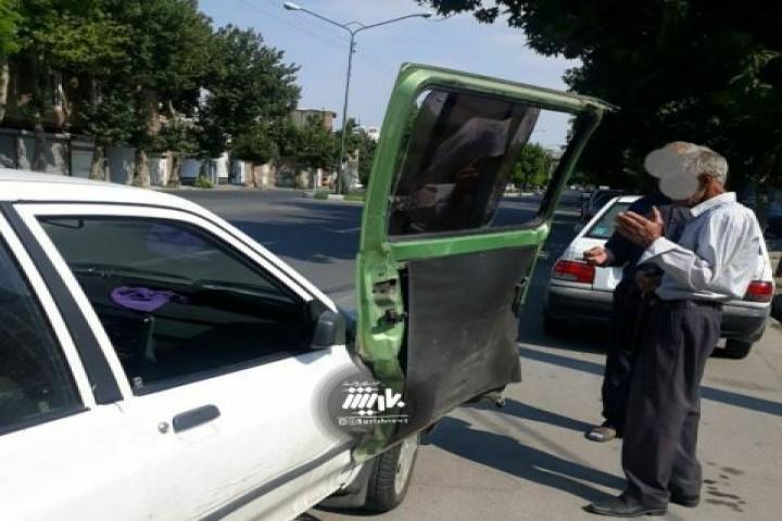 تصادف عجیب در خیابان علامه مجلسی