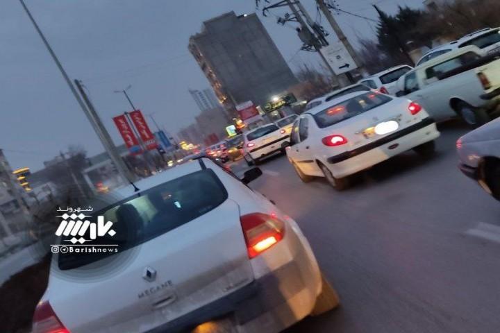 ترافیک در خیابان های ارومیه در این روز های کرونایی