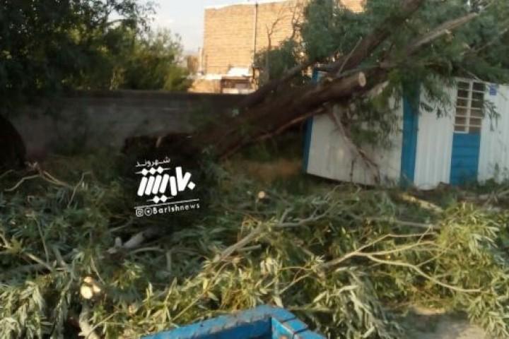 خسارت باد در روستای علی آباد / باراندوزچای