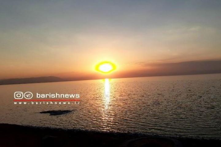 غروب آفتاب/ دریاچه ارومیه