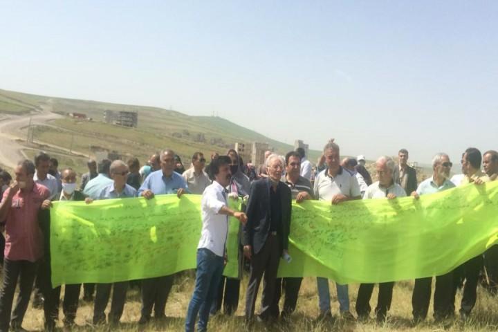 شکایت اعضا به دلیل عدم رسیگی مسئولین شهر برای عدم محدوده شدن زمینهای پروازپشت پارک جنگلی
