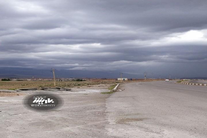 آسمان ابری شهرستان شوط