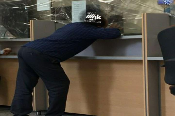 نداشتن ماسک در بانک ها