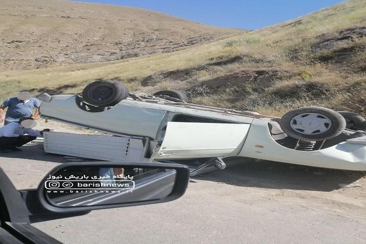 واژگونی پیکان وتمت در جاده بند