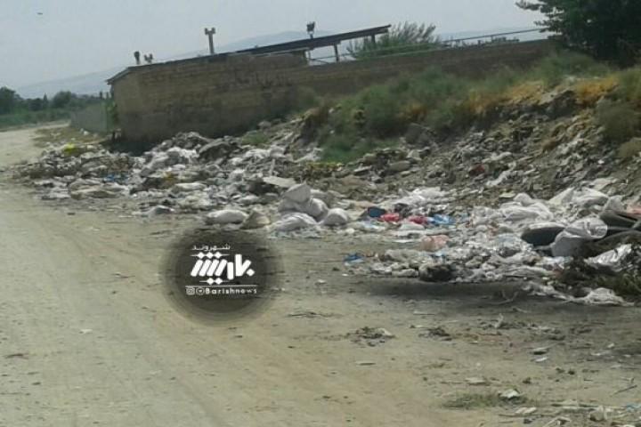 وضعیت پسماندها در روستای بالو
