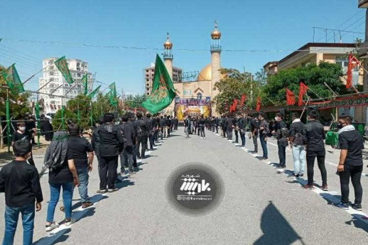 عزاداری مسجد قائم با رعایت پروتکل های بهداشتی