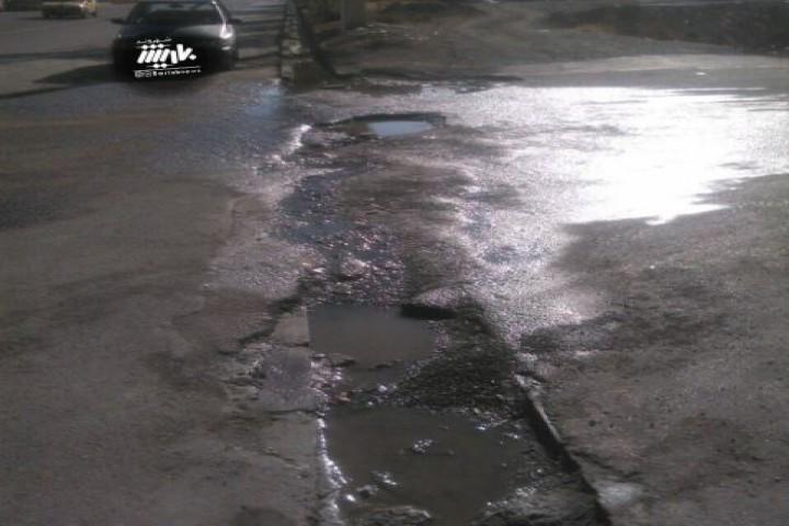 وضعیت نامناسب ورودی خیابان مولایی