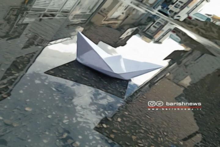 تصویر زیبا از نمای بارانی ارومیه