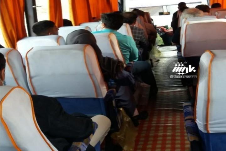 وضعیت اتوبوس های بین شهری و هدم رعایت فاصله اجتماعی
