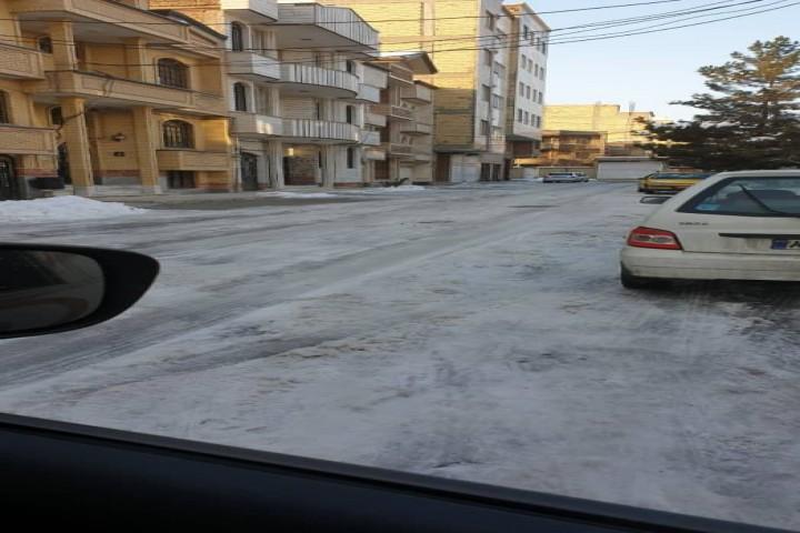 برف روبی کوچه های سعدی