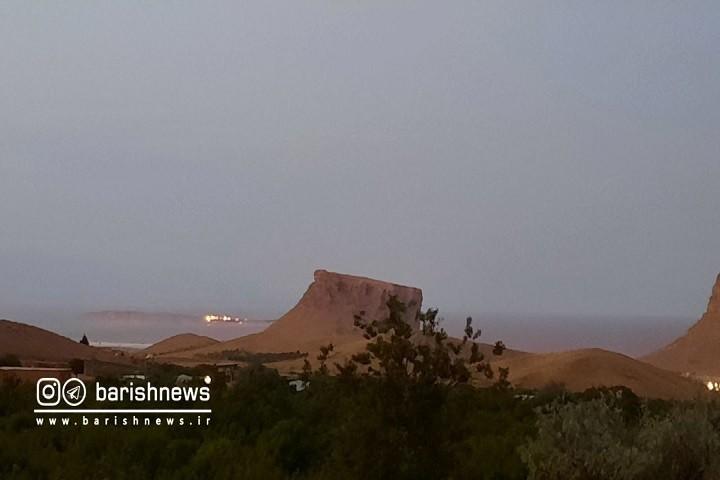 آتش سوزی در یکی از جزایر دریاچه ارومیه