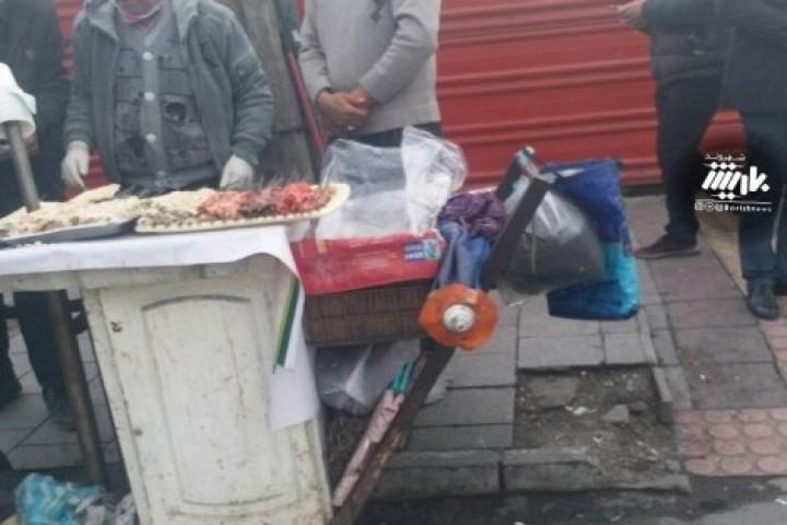 کبابی کنار خیابان و مردم بی توجه به هشدارها / میدان ولایت فقیه