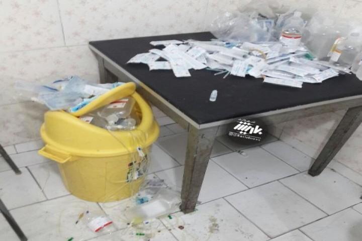 وضعیت نامناسب یکی از مطب های در این روزهای کرونایی و شرایط حاد