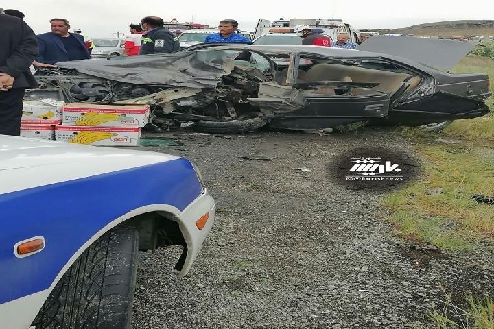 تصادف شدید در جاده ارومیه تبریز