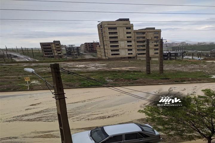 وضعیت خیابان های گلشهر پس از بارش باران