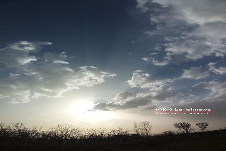نمایی زیبا از آسمان ارومیه