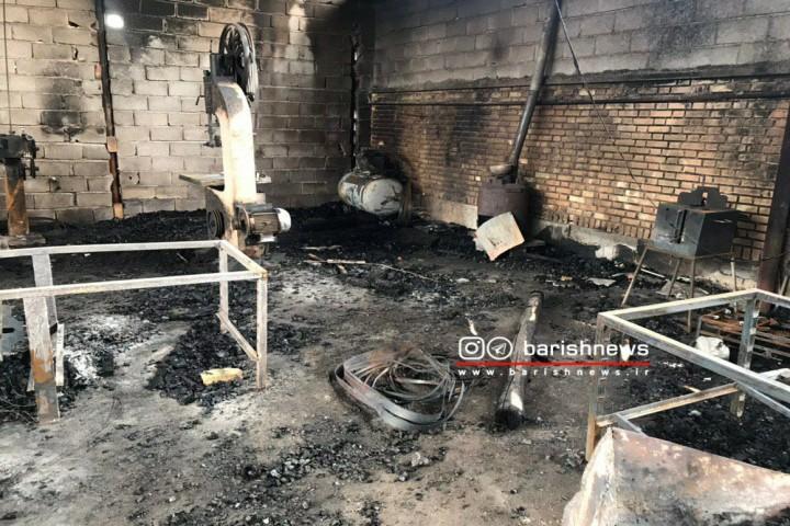 آتش سوزی در شهرک صنعتی فاز 2 المهدی