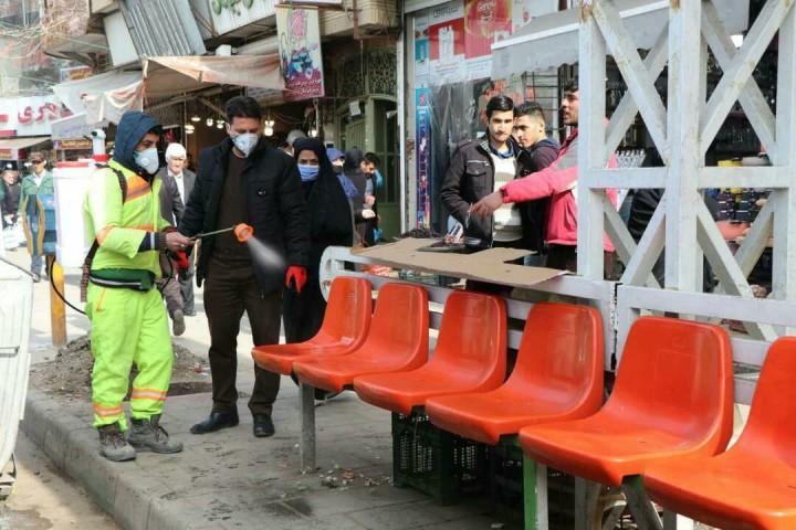 ضدعفونی خیابانها و معابر پرتردد ارومیه در دست فراموشی