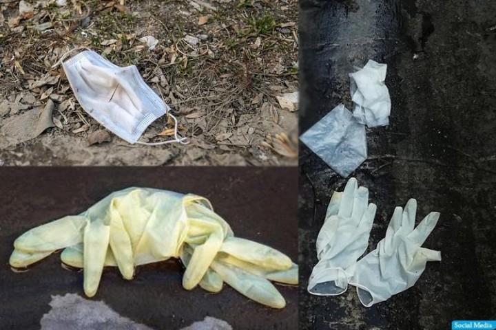 رها شدن ماسکهای آلوده معضلی نو در شهر
