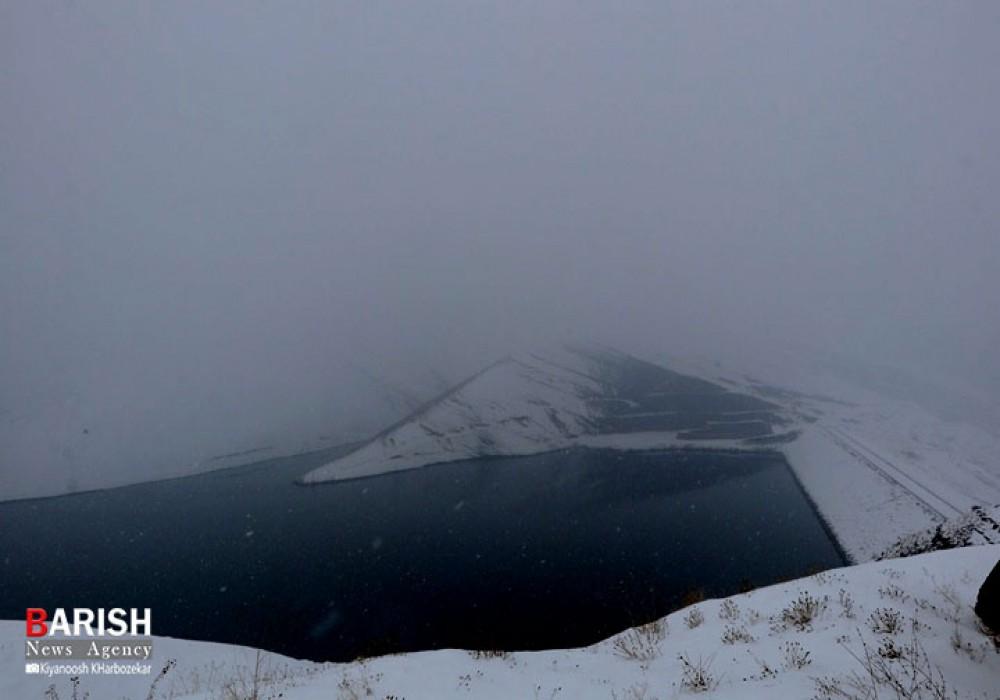 طبیعت زیبای برفی ارومیه در قاب باریش