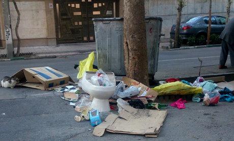 زبالههای بیصاحب در شهر!