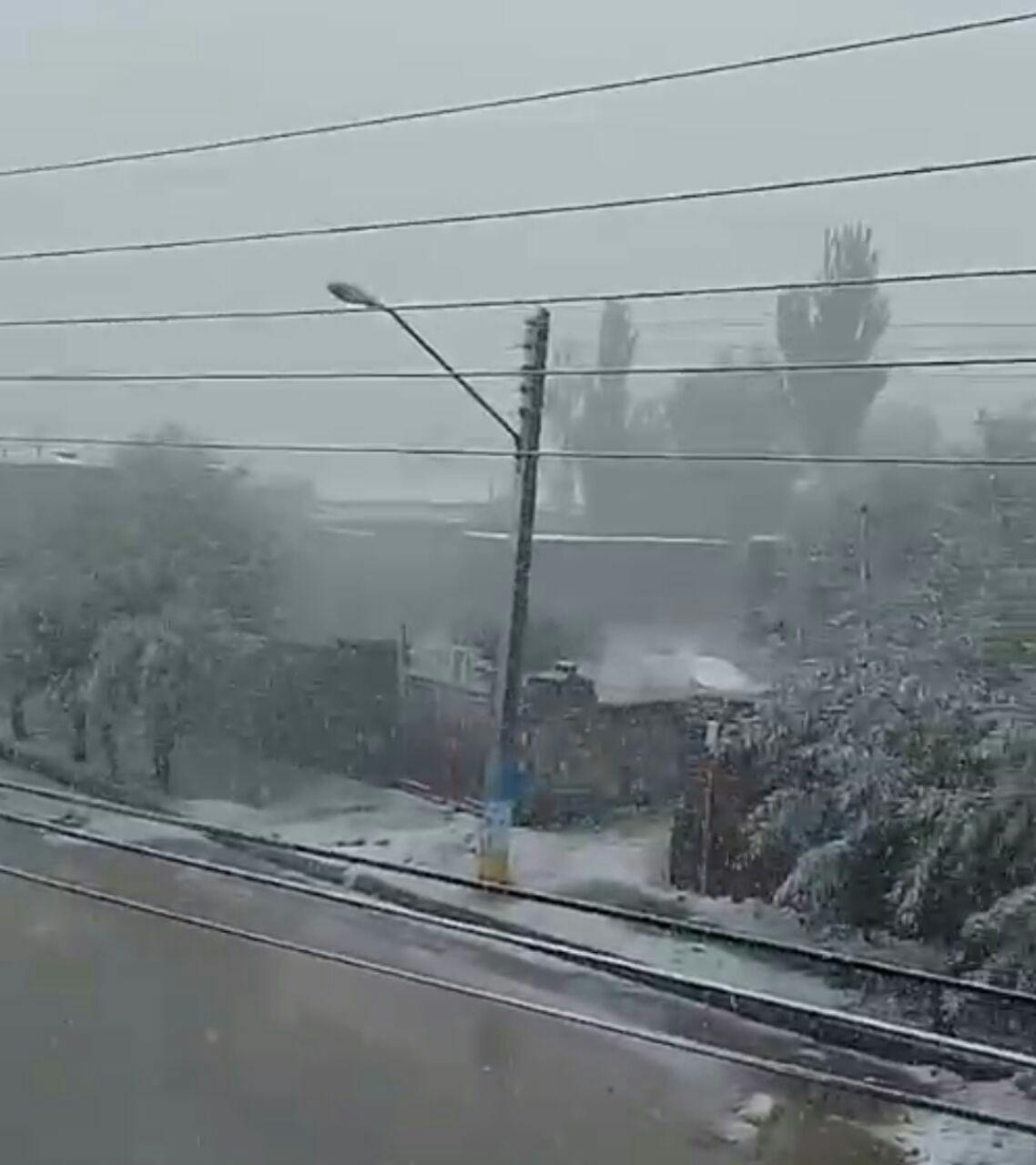 برف و کولاک پاییزی در چالدران