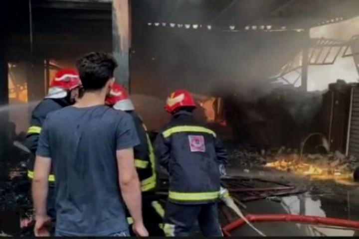 آتشسوزی شهرک صنعتی سلماس مجروحی نداشت
