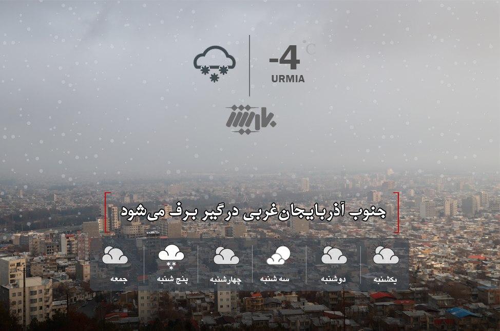 جنوب آذربایجانغربی درگیر برف میشود