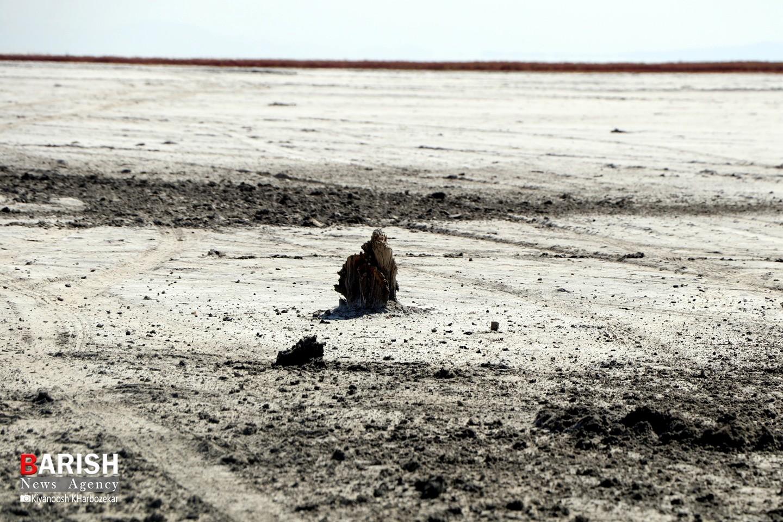 خشکی بندر گلمانخانه ارومیه از لنز دوربین باریش