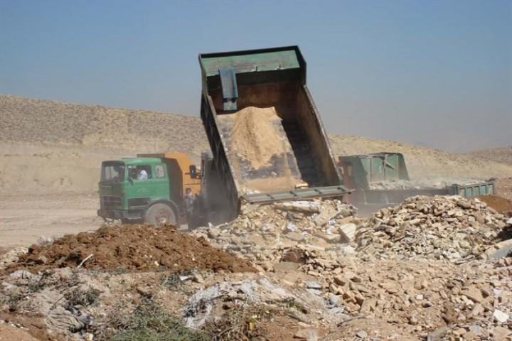 زمینهای خالی مکانی برای انبار نخالههای ساختمانی در ارومیه