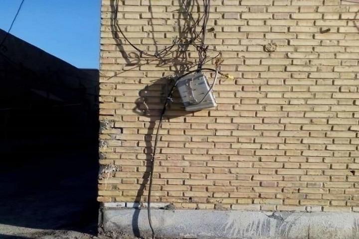 سرقت کابل های تلفن در خیابان های ارومیه