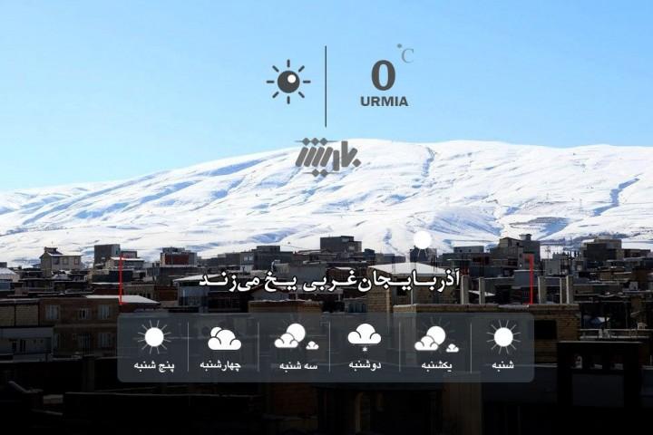آذربایجانغربی یخ میزند