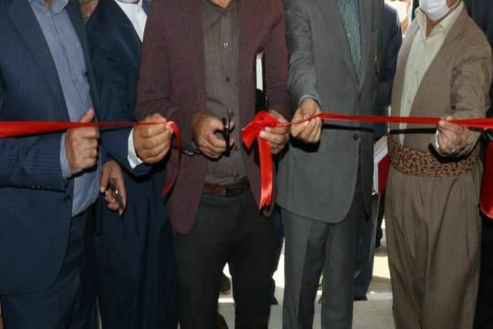 تجمع برای افتتاح پروژهای بوکان در روزهای کرونایی